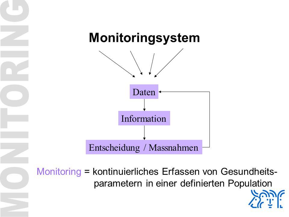 Monitoringsystem Daten Information Entscheidung / Massnahmen