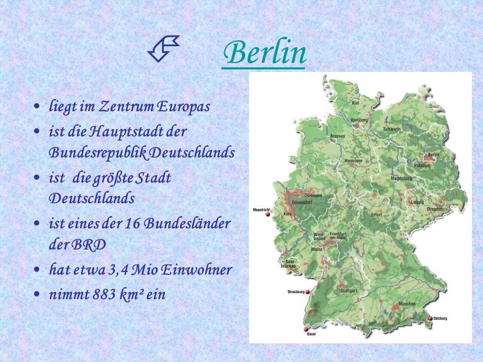 Berlin liegt im Zentrum Europas