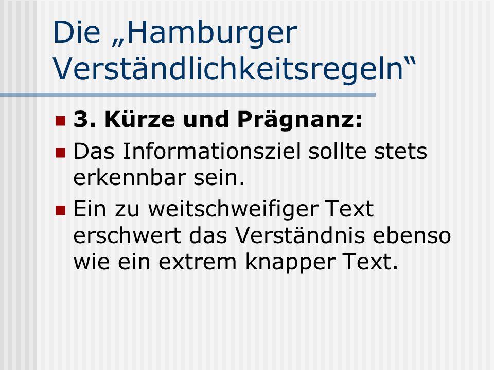 """Die """"Hamburger Verständlichkeitsregeln"""