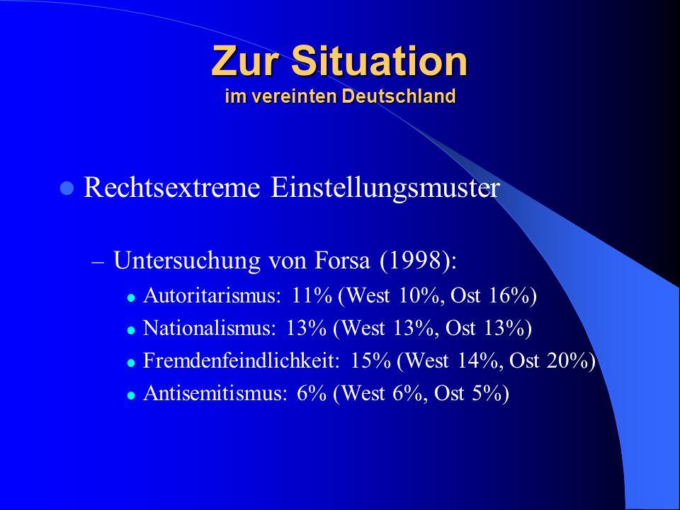 Zur Situation im vereinten Deutschland
