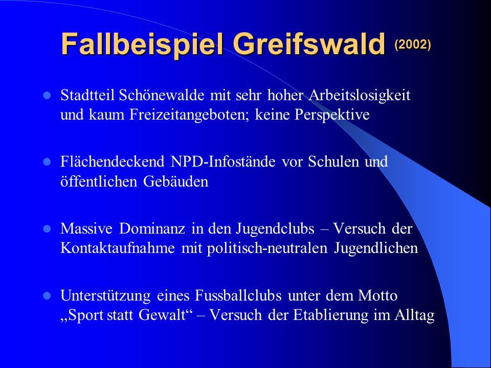 Fallbeispiel Greifswald (2002)