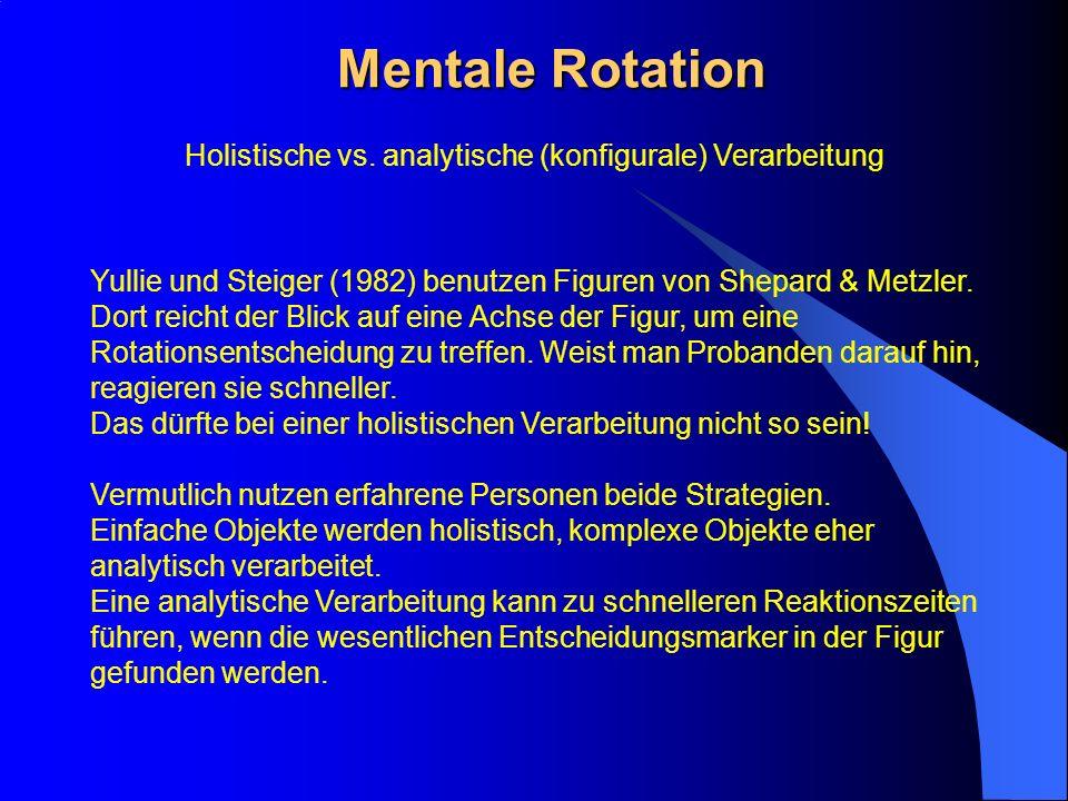 Holistische vs. analytische (konfigurale) Verarbeitung