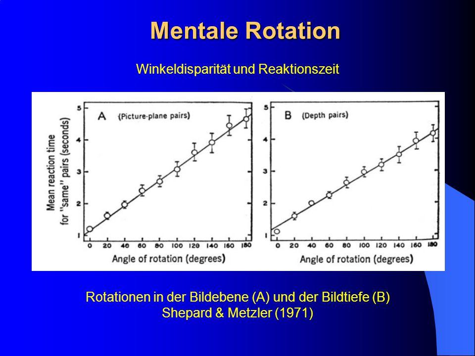 Mentale Rotation Winkeldisparität und Reaktionszeit
