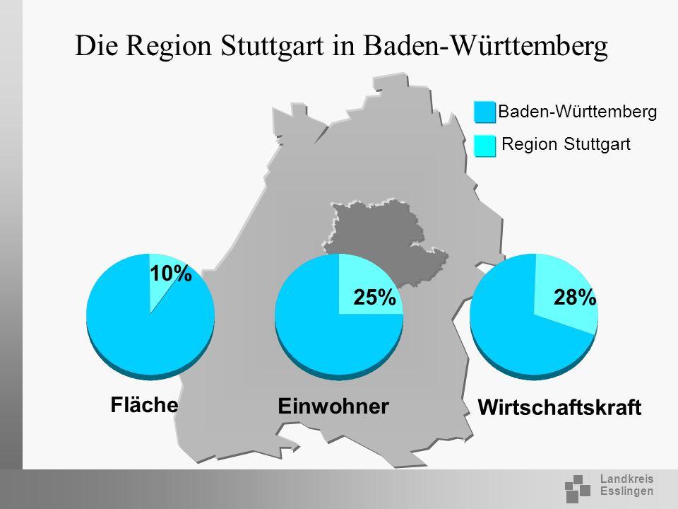 Die Region Stuttgart in Baden-Württemberg