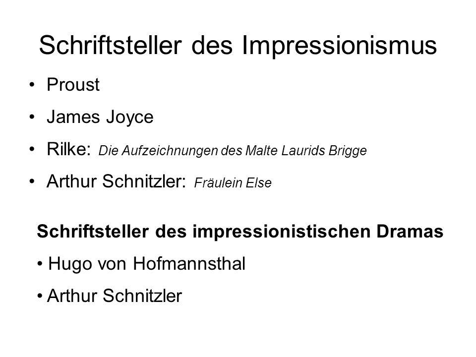 Schriftsteller des Impressionismus
