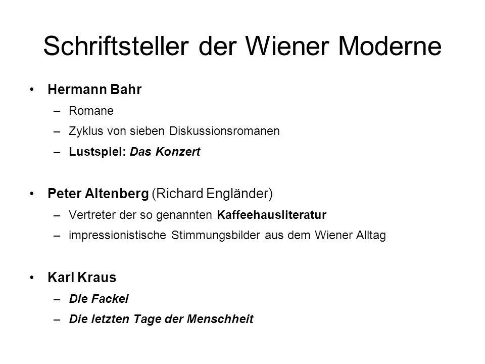 Schriftsteller der Wiener Moderne