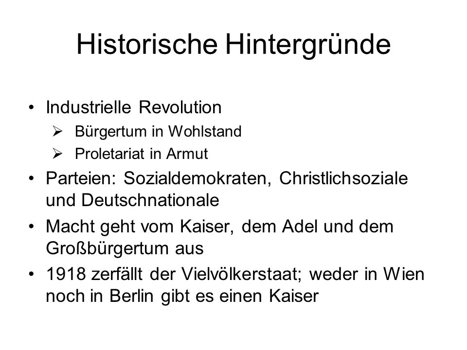 Historische Hintergründe