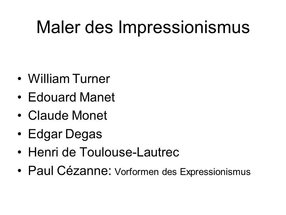 Maler des Impressionismus