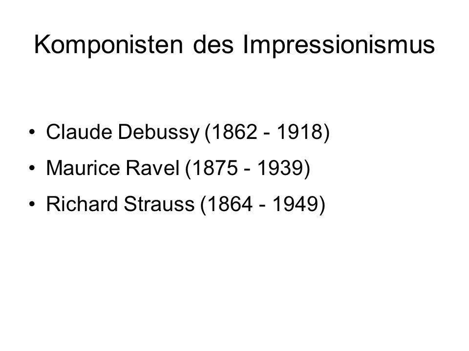 Komponisten des Impressionismus