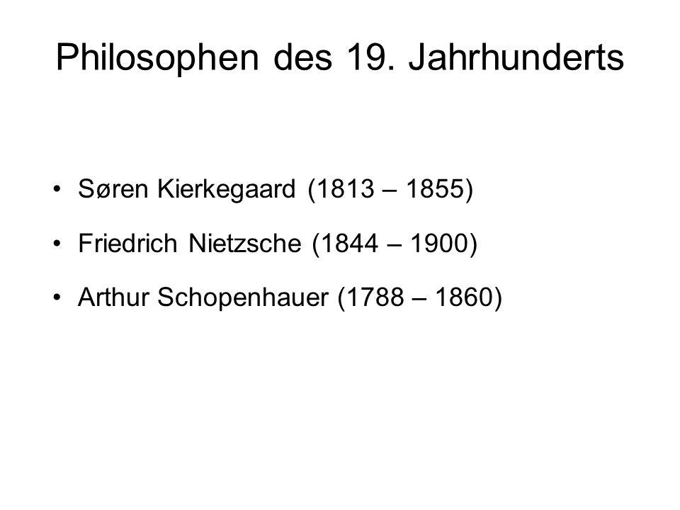 Philosophen des 19. Jahrhunderts