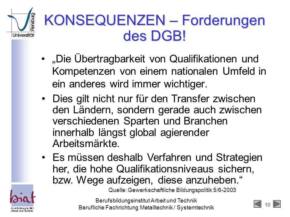 KONSEQUENZEN – Forderungen des DGB!