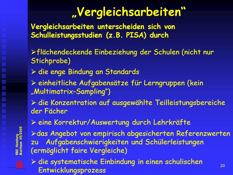 """""""Vergleichsarbeiten"""
