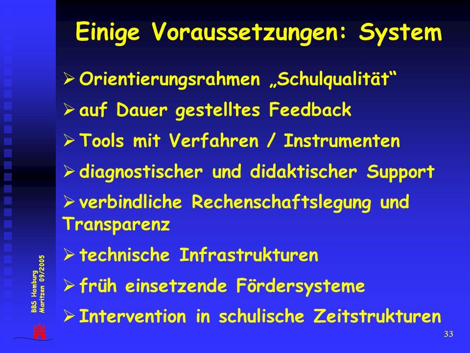 Einige Voraussetzungen: System