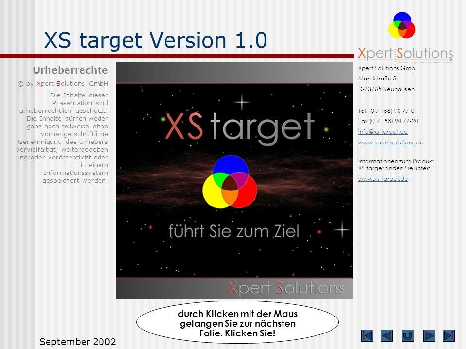 XS target Version 1.0 Urheberrechte