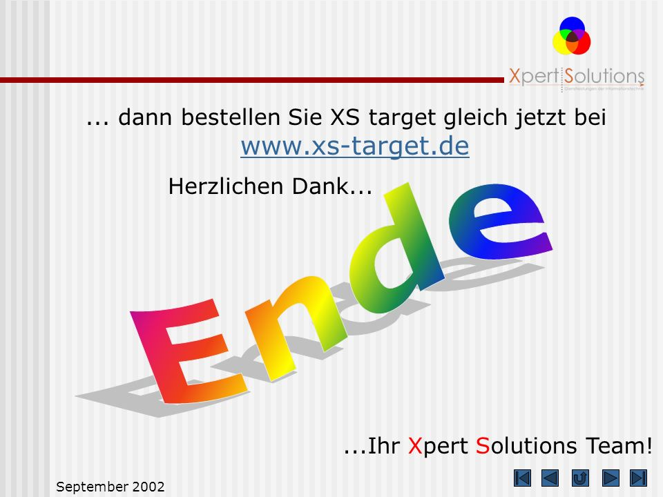 ... dann bestellen Sie XS target gleich jetzt bei www.xs-target.de