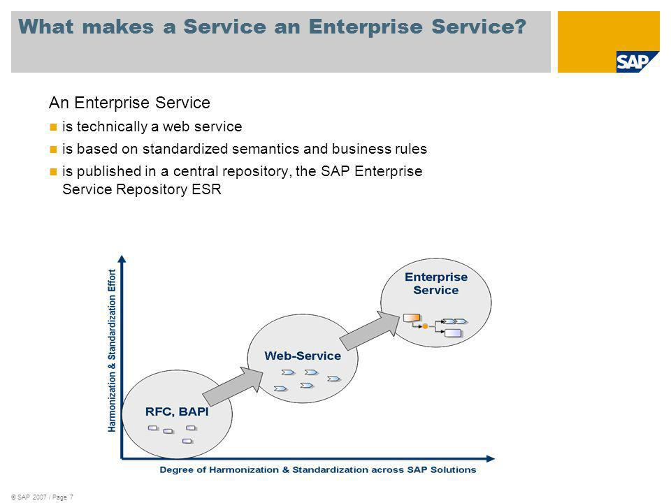 What makes a Service an Enterprise Service