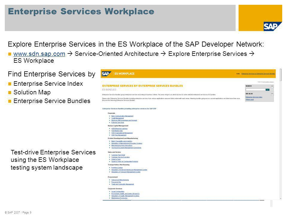 Enterprise Services Workplace