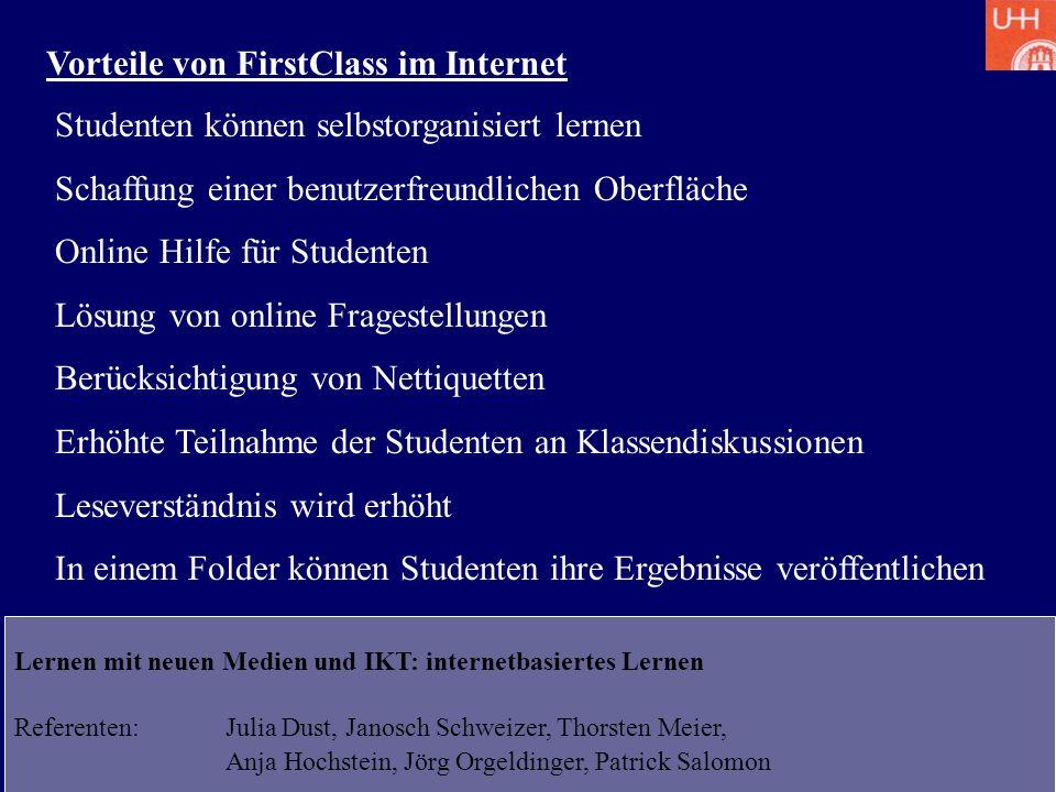 Vorteile von FirstClass im Internet