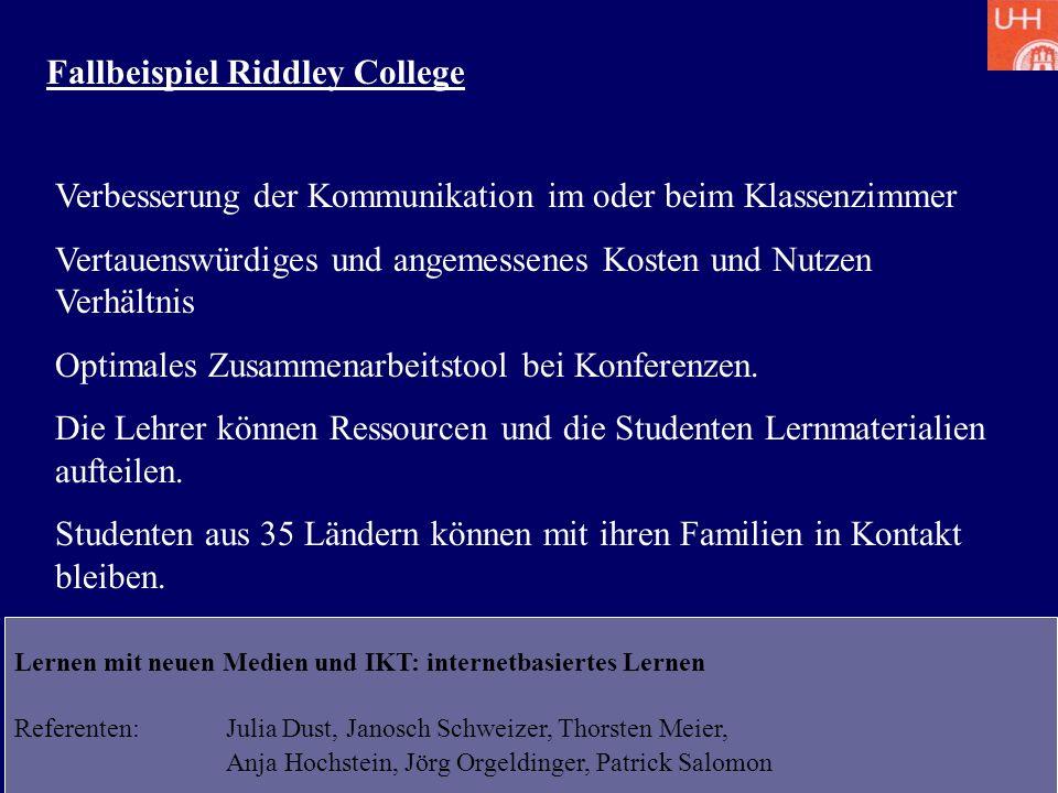 Fallbeispiel Riddley College