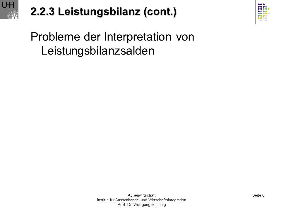 2.2.3 Leistungsbilanz (cont.)