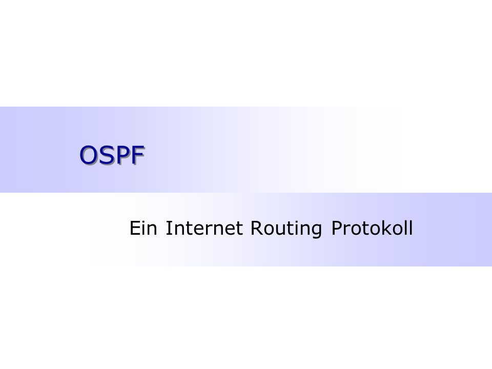 Ein Internet Routing Protokoll