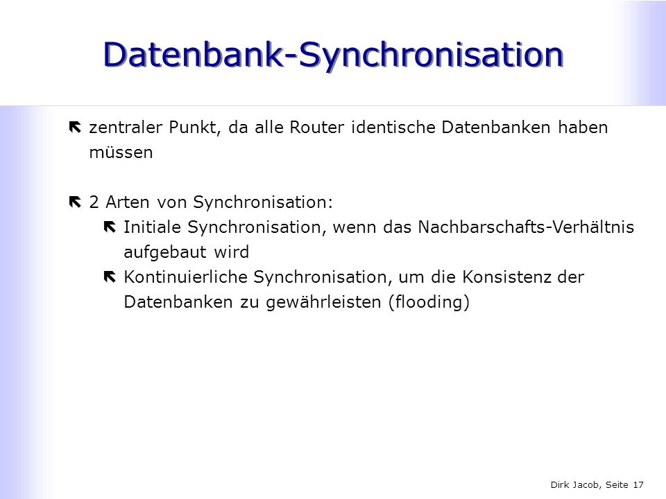 Datenbank-Synchronisation