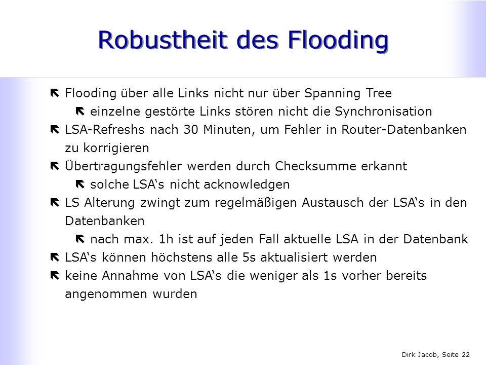 Robustheit des Flooding
