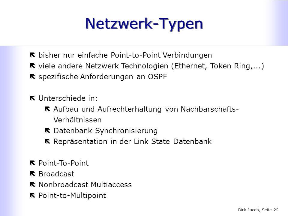 Netzwerk-Typen bisher nur einfache Point-to-Point Verbindungen