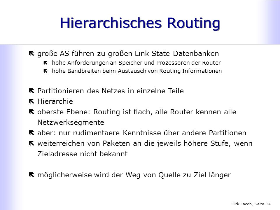 Hierarchisches Routing