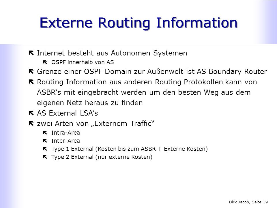 Externe Routing Information