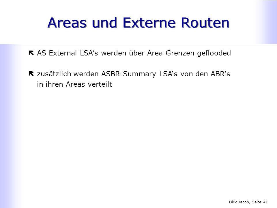 Areas und Externe Routen
