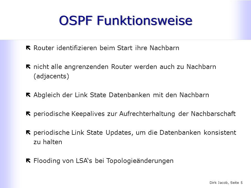 OSPF Funktionsweise Router identifizieren beim Start ihre Nachbarn