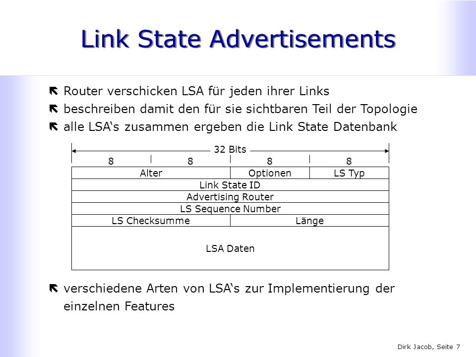Link State Advertisements