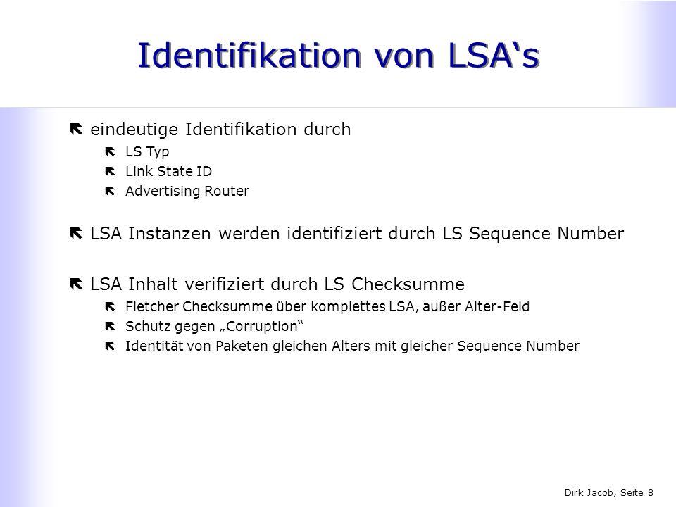 Identifikation von LSA's