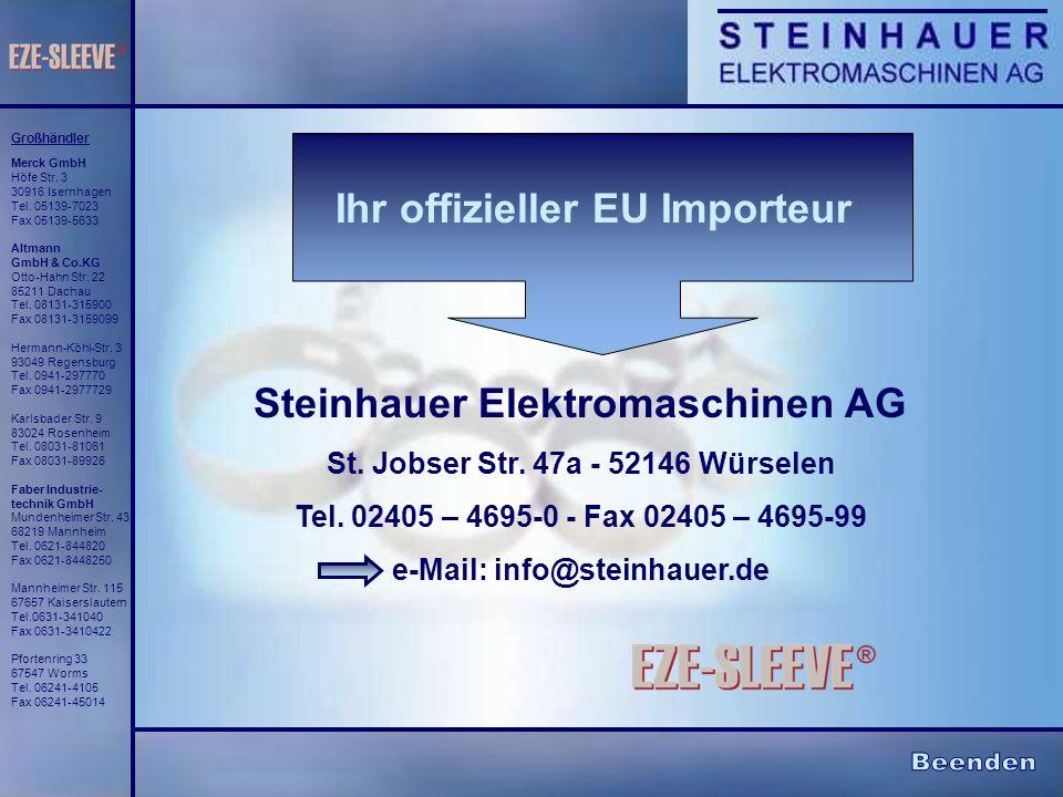 Ihr offizieller EU Importeur Steinhauer Elektromaschinen AG