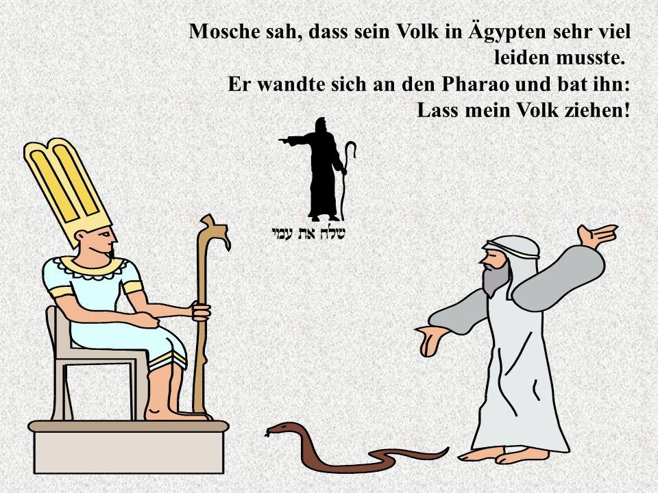 Mosche sah, dass sein Volk in Ägypten sehr viel leiden musste.