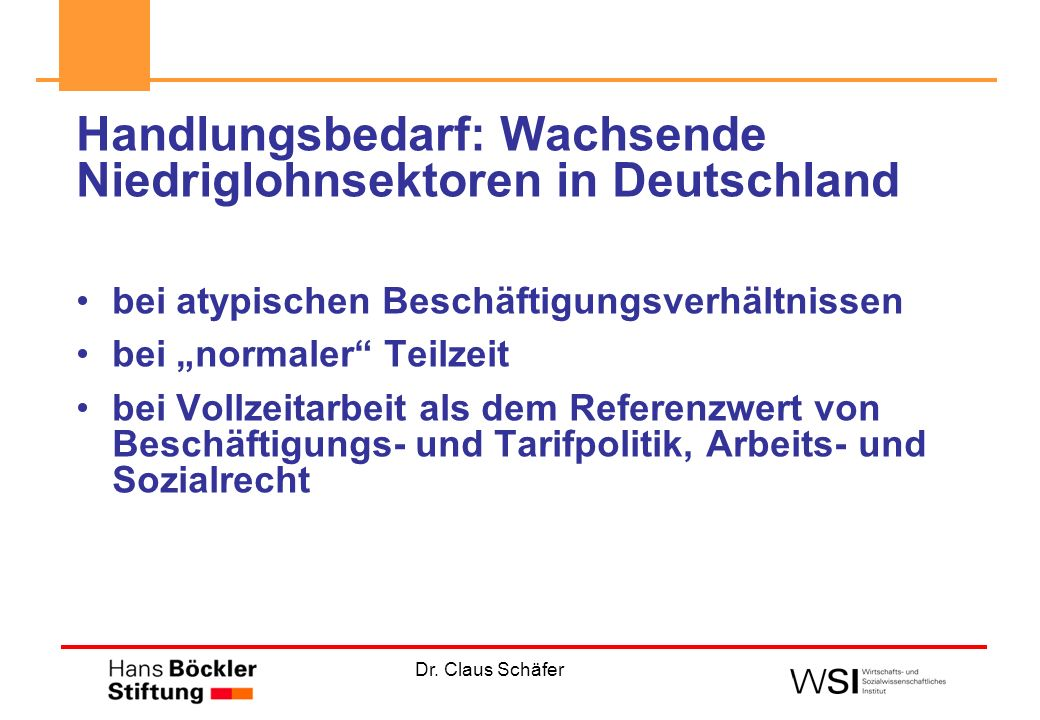 Handlungsbedarf: Wachsende Niedriglohnsektoren in Deutschland