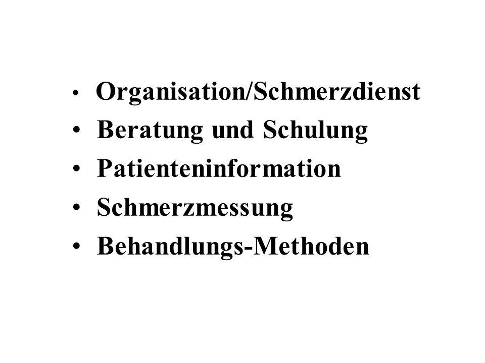 Patienteninformation Schmerzmessung Behandlungs-Methoden