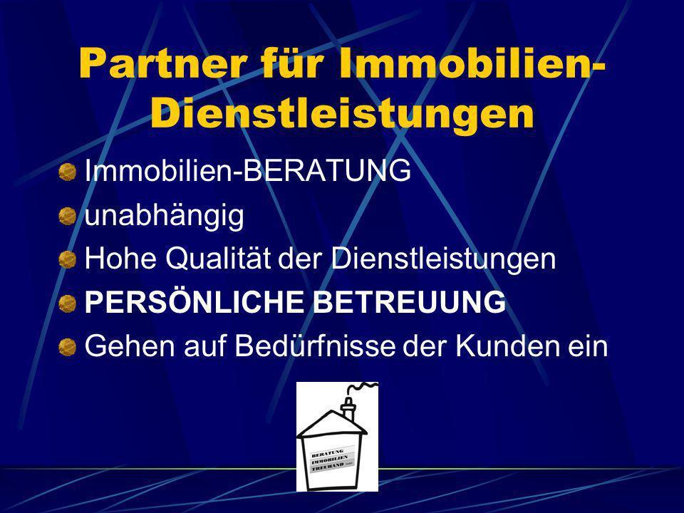 Partner für Immobilien-Dienstleistungen