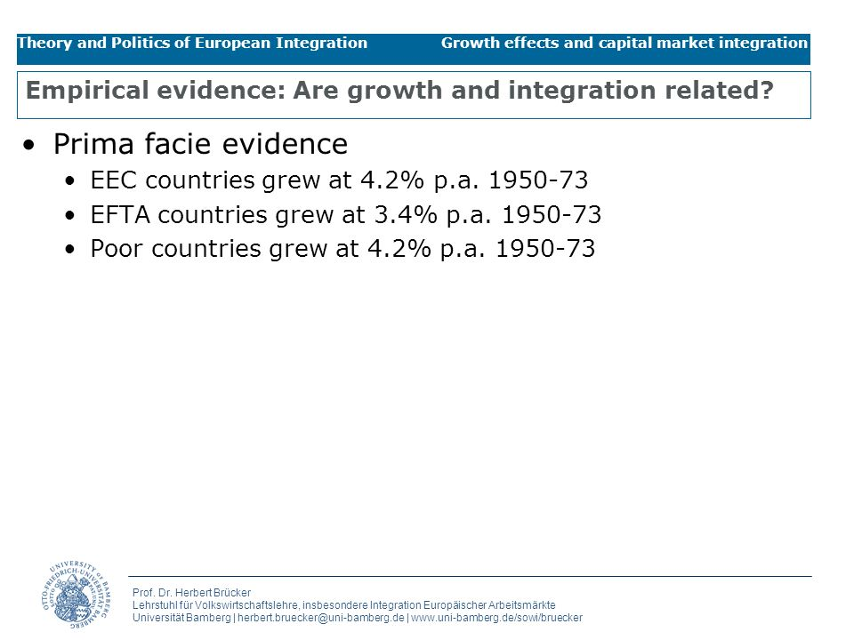 Empirical evidence: Are growth and integration related