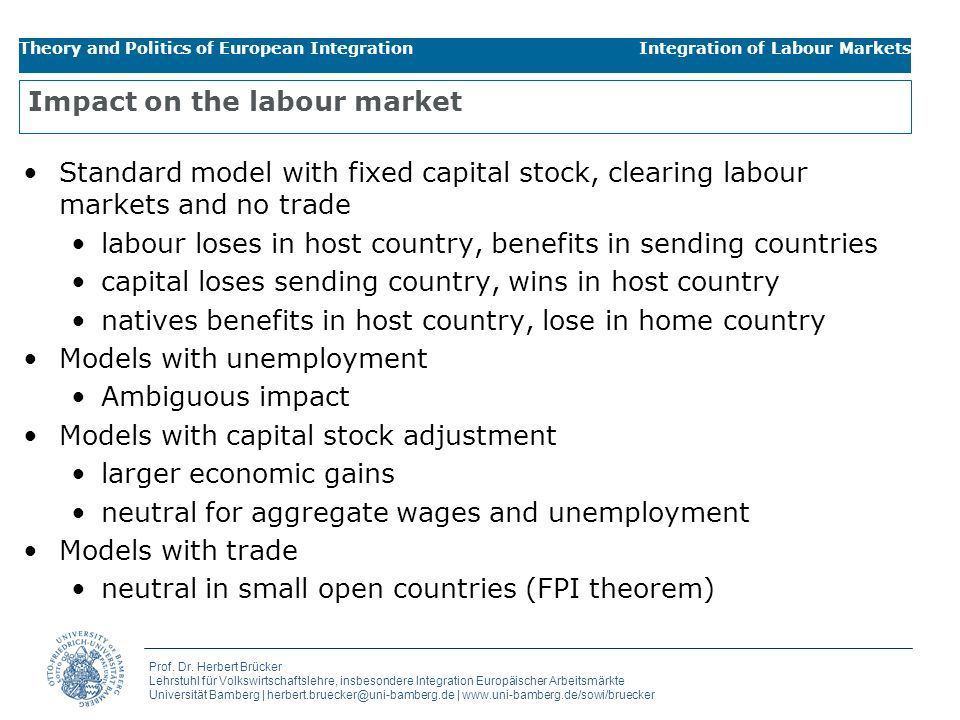 Impact on the labour market