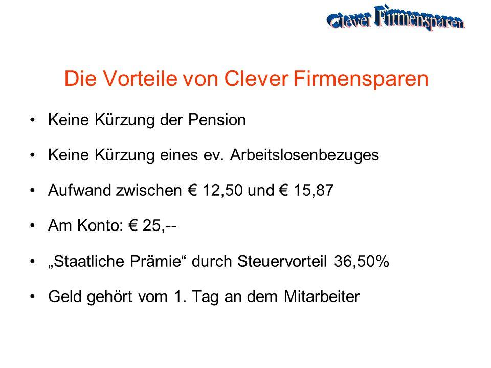 Die Vorteile von Clever Firmensparen