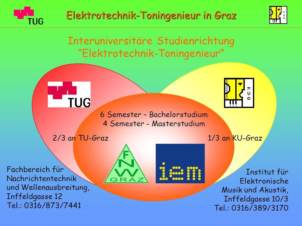 Interuniversitäre Studienrichtung Elektrotechnik-Toningenieur