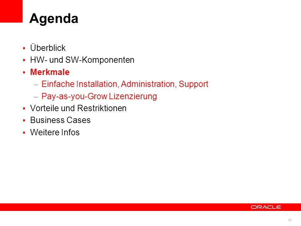 Agenda Überblick HW- und SW-Komponenten Merkmale