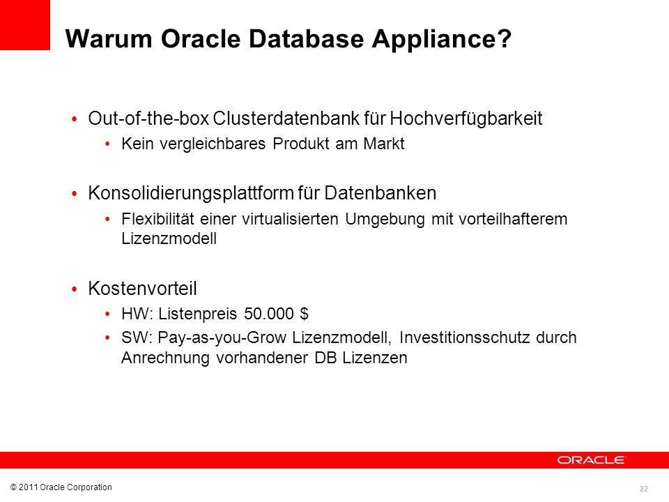 Warum Oracle Database Appliance