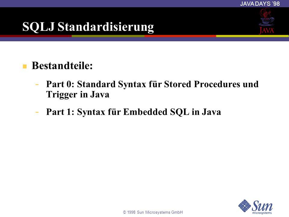SQLJ Standardisierung