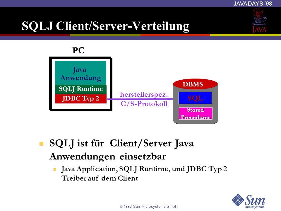 SQLJ Client/Server-Verteilung