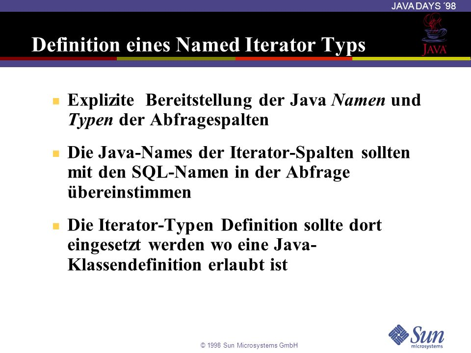 Definition eines Named Iterator Typs