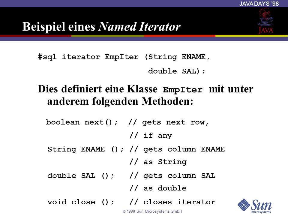 Beispiel eines Named Iterator