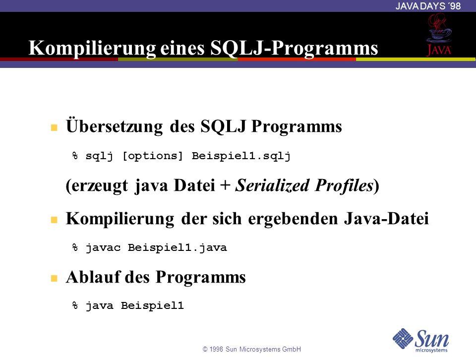 Kompilierung eines SQLJ-Programms